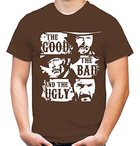 The Ugly Männer und Herren T-Shirt | Clint Eastwood Western Kostüm Kult (XL, Braun) ()