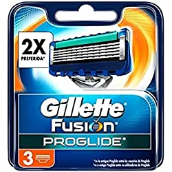 Gillette Fusion ProGlide - Pack de 3 recambios de maquinilla de afeitar para hombre