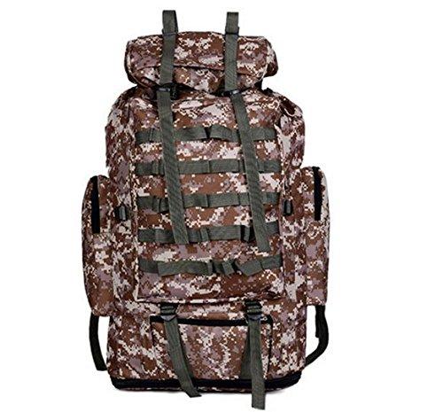 GOUQIN Outdoor Rucksack Klassische Mode Outdoor Rucksack 80 L Camouflage Taschen Klettern Grau