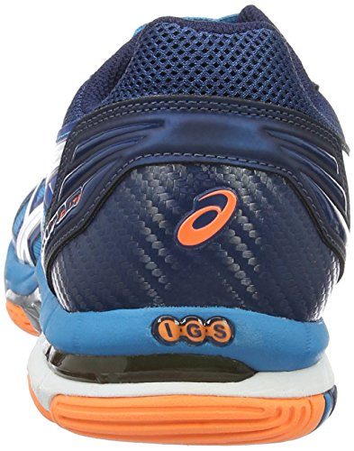 Asics Herren Gel-Volley Elite 3 Volleyballschuhe Blau (blue Jewel/white/hot Orange)