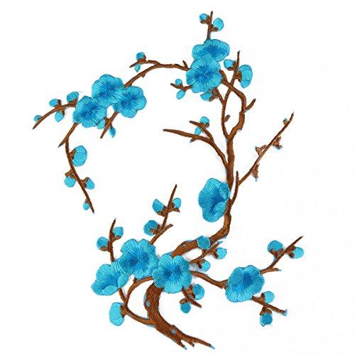 ROSENICE Prugna Blossom Fiore Applique Ricamo Patch Mestiere Cucito
