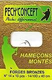 PECH'CONCEPT HAMECONS MONTES TOUTES PECHES FORGES BRONZES N 14 X 10
