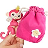 JACKY-Store Interactive Baby Monkey Dolls Portable Kids Play Storage Bag Toys Rug Box for Little Baby Monkey (Hot Pink)