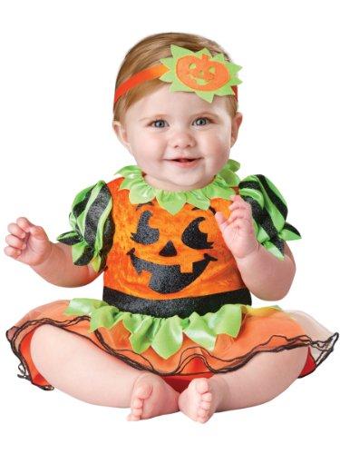 InCharacter Baby-Größe Halloween-Kürbis-Flecken-Prinzessin-Kostüm Baby (0-6