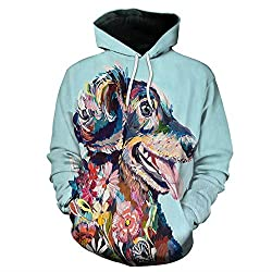 Ulanda-EU 3D Printed Dog Pullover,Ugly Christmas Unisex Plus Size Autumn Winter Hoodies HD 3D Print Pullover Lightweight Sweatshirts With Pockets