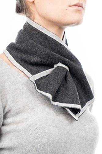 Dalle piane cashmere - scaldacollo 100% cashmere - donna, colore: antracite/grigio, taglia unica