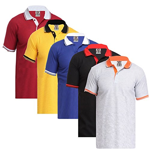 Lime Fashion Offers Pack Of 5 Polo(Collar) T-Shirts