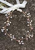 Handmadejewelrylady mariée Rose Feuille d'or Bandeau Mariage Accessoires Cheveux mariée Bijoux de cheveux pour femme Bandeau Diadème
