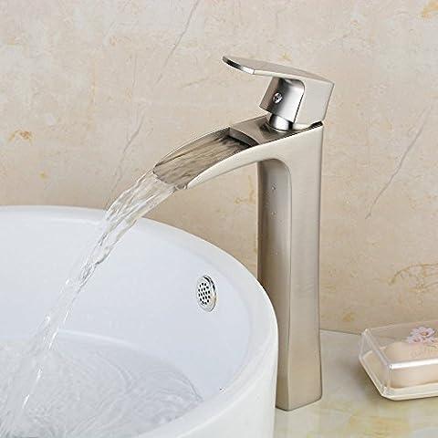 Hiendure® Laiton Haut Robinets de lavabo cuisine lavabo robinet ,nickel