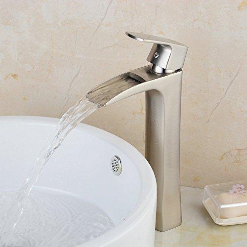hiendurer-single-handle-waterfall-bathroom-basin-sink-mixer-taps-brushed-nickel-tall