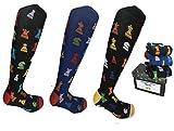Lucchetti Socks Milano calze calzini uomo lunghe estive, in cotone mercerizzato fresco e leggero 3 paia colorate moda fashion (Set Tris Scacchi)
