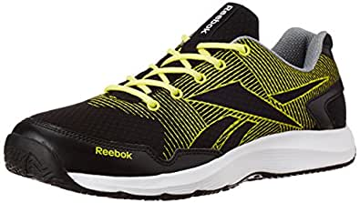Reebok Men's Performer 2.0 Lp Black, Green, Grey and White Running Shoes  - 7 UK
