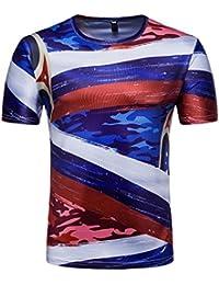 QinMM Hommes T-Shirt à Manches Courtes Coupe du Monde Drapeau Français  Camouflage 3D Impression c117ce4a5d1