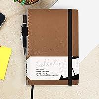Bullet Journal/Cuaderno Punteados - Takenote A5 Cuaderno de Tapa Dura - Papel Grueso Premium (Habana)