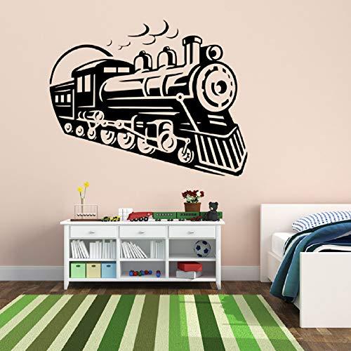ljradj Zug Lokomotive Entfernbare Wandaufkleber Für Kindergarten Kinder Jungen Schlafzimmer Spielzimmer Vinyl Aufkleber Wohnzimmer Kunst Dekor rot 56X44 cm
