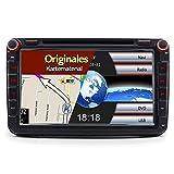 A-Sure 8 Zoll 2 Din 3G DAB+ Autoradio Navi DVD GPS...