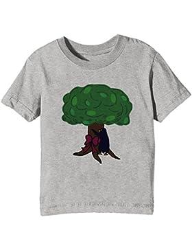 Árbol Niños Unisexo Niño Niña Camiseta Cuello Redondo Gris Manga Corta Todos Los Tamaños Kids Unisex Boys Girls...