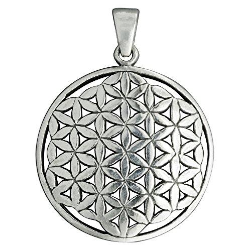 Blume des Lebens zeitloses Keltischer Anhänger 925Sterling Silber 5.6g Prägung beldiamo -