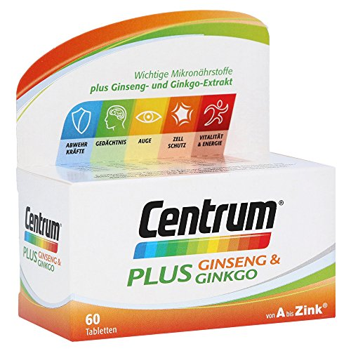 Centrum plus Ginseng + Ginkgo, 60 St. Tabletten