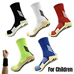 Dee Plus Kids Socks Anti Slip Boys Girls Football Socks Children Non Slip Sports Socks Rubber Pads Soccer Basketball Socks Running Outdoor for Age 6-11