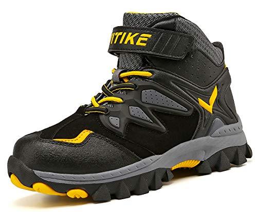 Scarpe da Escursionismo per Bambini Scarpe Antisdrucciolevoli in Inverno Stivali da Neve Scarpe da Cotone per Ragazze Ragazzi?Giallo EU32