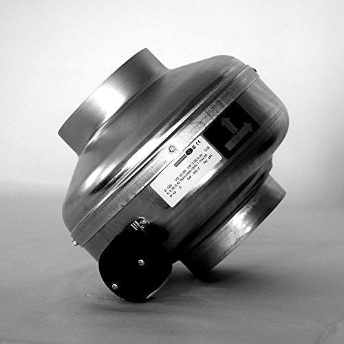 Abluftventilatoren Bad Lüftung (Klimapartner RV 160 Basic - Profi Rohrventilator 160mm - Rohrlüfter - Abluftventilator - Lüftung)