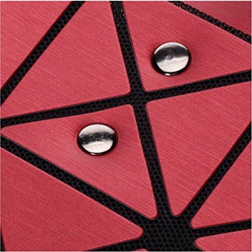 Frauen Paket Geometrische Umhängetasche Handtasche Redwine