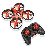 RCtown ELF Mini Drone 2.4GHz 4CH Mini UFO Quadcopter Drone avec 6-Axis Gyro Mode Sans Fil Télécommande Nano Quadcopter (Rouge)
