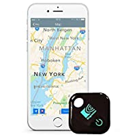 GPS Key Finder, Phone Finder Anything Finder Kingcenton Anti Lost Tracker Mini Smart Bluetooth 4.0 Tag Tracking Wallet Key Tracer Low Engery Alarm Patch GPS Locator Finder for IOS and Android 4.3 or Higher Phones P5 (black)