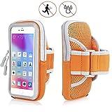 X-Tab Handy Armband für HTC Exodus 1 Sportarmband zum Laufen, Joggen, Radfahren SPO-2 orange
