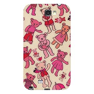 EYP Teddy Pattern Back Cover Case for Samsung Note 2