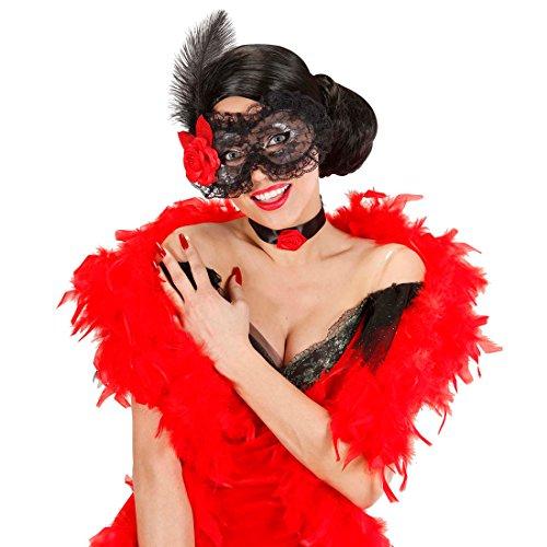 Damen Spanierin Erwachsene Für Kostüm - Venezianische Maske mit Blume Spanische Ballmaske Maskerade Augenmaske Spitze Rüschen Rose Maskenball Faschingsmaske Spanierin Fasching Damen Karnevalsmaske Mottoparty Accessoires Karneval Kostüm Zubehör