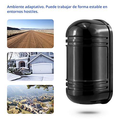 Sensores IR para sistema de alarma Kerui c/élula doble haz barrera de infrarrojos exterior 100/M ABT-100 para alarma de casa detector de presencia