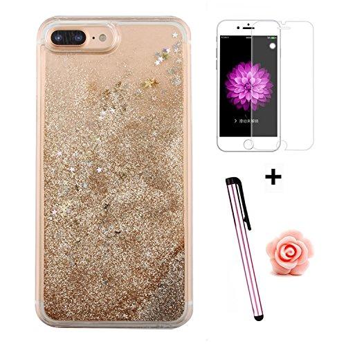 TOYYM - Cover per iPhone 7Plus 5,5, trasparente con brillantini e liquido, include 1 pellicola protettiva e 1pennino capacitivo, plastica, Color 27#, Apple iPhone 7 Plus 5.5 Color 36#