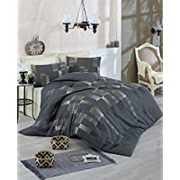 Eponj Home Double Quilt Cover Set - Duvet Cover: 220 x 220 cm Pillowcase: 45 x 155 cm (1 Piece)