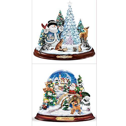 2 piezas Juego de bricolaje Juego de pintura con diamante 5D, árbol de muñeco de nieve navideño y...
