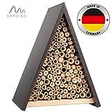 Gardigo Bienenhaus | Nisthilfe für Bienen aus Holz, zum Aufhängen | Bienenhotel, Insektenhotel aus Naturmaterialien