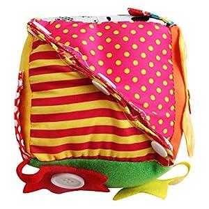 perfeclan 6 en 1 Juguete Montessori Niños Cubo de Vestir Material Didáctico de Guardería Infantil