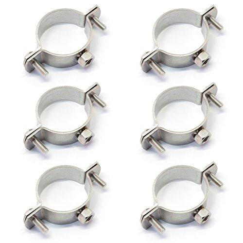 PRIOstahl® Rohrschellen aus Edelstahl V2A f. Stockschrauben - Rohrhalter Rohrbefestigung Rohr (1/2