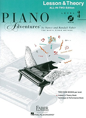 3 Level Book Lesson Piano (Faber Piano Adventures: Level 3 - Lesson & Theory (Book & CD): Noten, Bundle, CD, Lehrmaterial, Musiktheorie für Klavier)