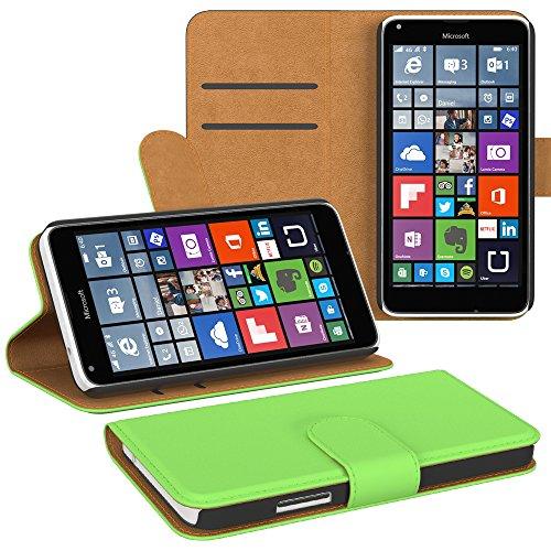 Ultra Slim Cover für Nokia Lumia 650 Schutz Hülle TPU Case Schutzhülle Silikon Tasche Dünn Transparent Grün (Book)