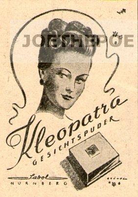 1948-inserat-anzeige-kleopatra-gesichtspuder-sabol-grosse-ca-45-x-70-millimeter-alte-werbung-origina