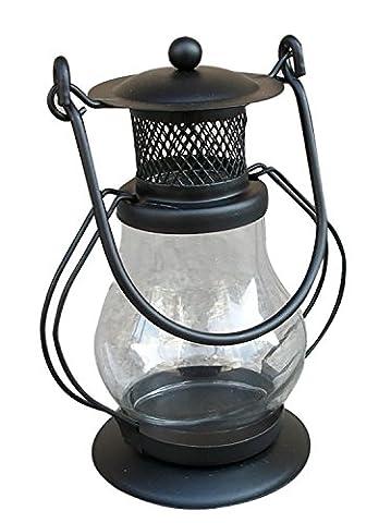 Pony Lights Candlestick Simple Moderne Fer Blanc ou Noir Bougeoir couleur Lampe de vent classique Accueil Petites ornements ( Color : Black )