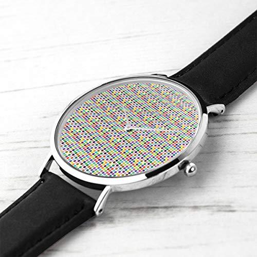 shion Minimalist Armbanduhren Farbige Flecken Wasserdicht Quarz Beiläufige Uhr Mens Womens ()