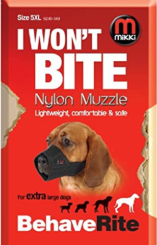 Mikki Dog Friendly Training Muzzle Easy Fit for Extra Large Dogs - Size 5 XL