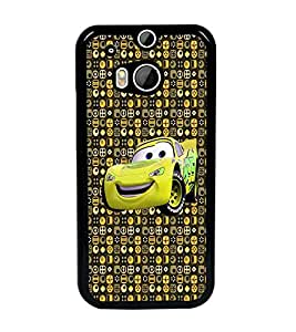 PrintDhaba Cartoon Car D-4051 Back Case Cover for HTC ONE M8s (Multi-Coloured)