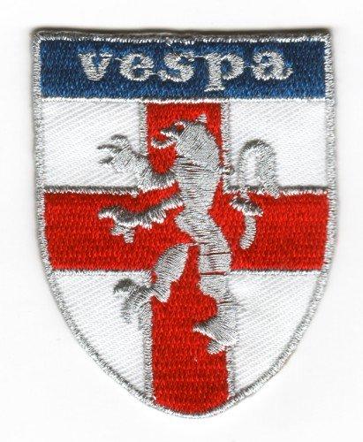 Parche bordado coser pegar planchando Vespa cruz San