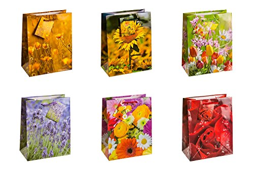 tsi-84013-sacchetti-da-regalo-6-motivi-floreale-misura-23-x-18-x-10-cm-confezione-da-12-pezzi
