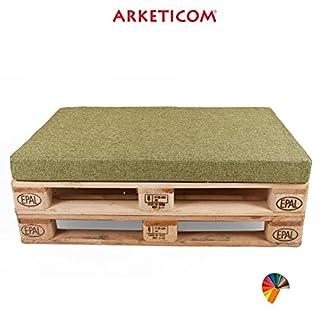 Arketicom PALLET SEAT CUSHION Furniture customizable Polyurethane Foam Italian Handmade 120x80x10 cm Green