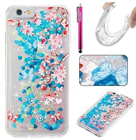 iPhone 6S Plus/6 Plus Hülle, Firefish Glitter Liquid Cover Slim Weiche TPU Gummi Silikon Fall Impact Resistant Durable Schutzhülle für Apple iPhone 6 Plus / 6S Plus(5.5 Zoll)